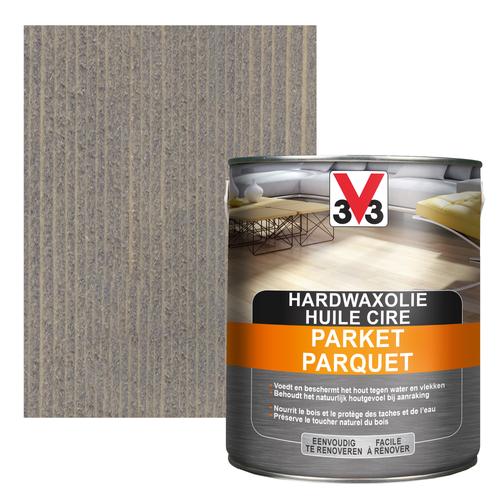 Huile cire V33 parquet deco gris foncé mat 2,5L