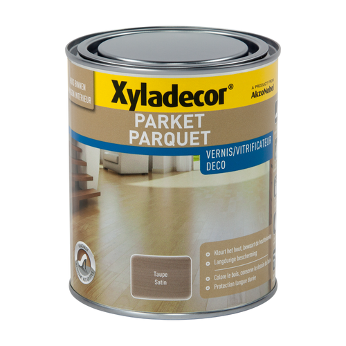 Vernis parquet Xyladecor taupe satin 750ml