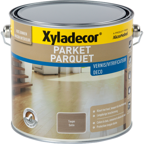 Vernis parquet Xyladecor taupe satin 2,5L