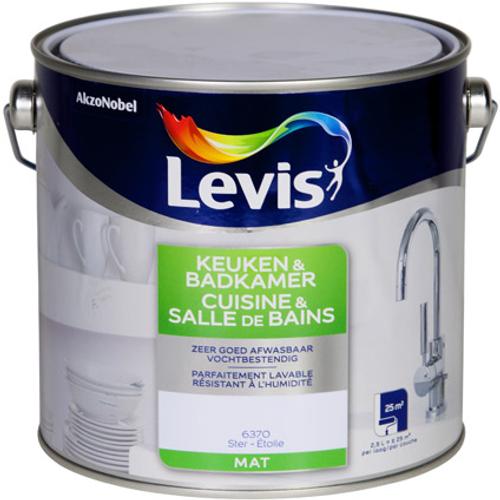 Peinture murale Levis 'Cuisine et Salle de bains' étoile mat 2,5L