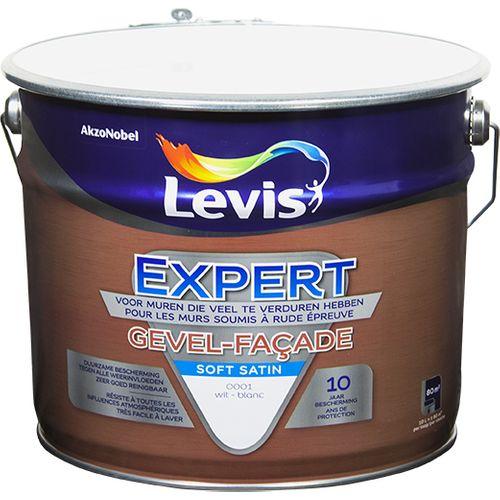 Levis gevelverf 'Expert' wit satijn 10 L