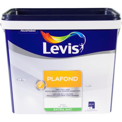 Levis plafondverf extra mat wit 5L