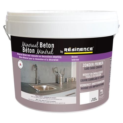 Résinence plamuur 'Béton minéral' wit om te kleuren 6kg
