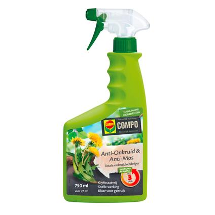 Compo Anti-Onkruid & Anti-mos totaal spray 750ml