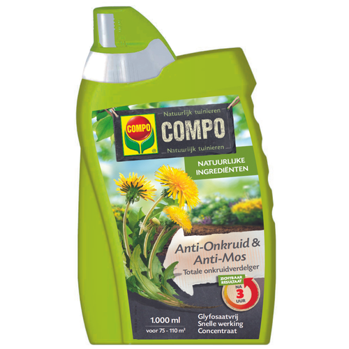 Compo Anti-Onkruid & Anti-mos totaal concentraat 1L
