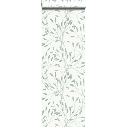 Papier peint intissé 'Alkane' double largeur gris