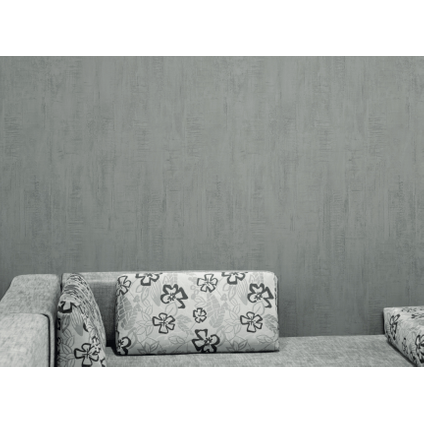 Papier peint vinyle 'Roma' gris foncé 53 cm x 10 m