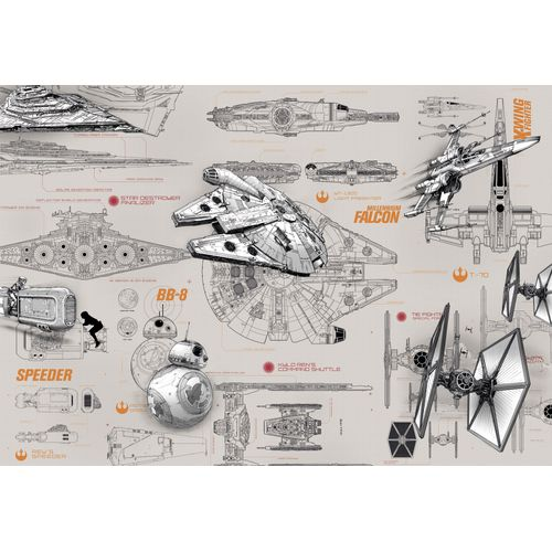 Star Wars fotobehang Blueprints