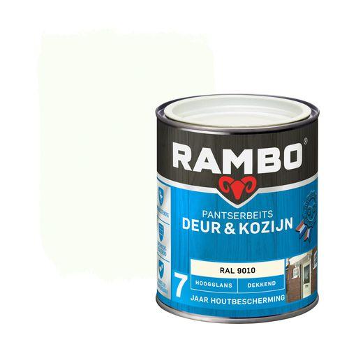 Rambo pantserbeits deur en kozijn hoogglans dekkend RAL 9010 750ml