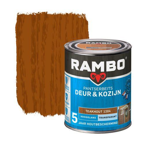 Rambo pantserbeits deur en kozijn hoogglans transparant teakhout 750ml
