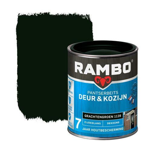 Rambo pantserbeits deur en kozijn dekkend zijdeglans 11128 grachtengroen 0,75L