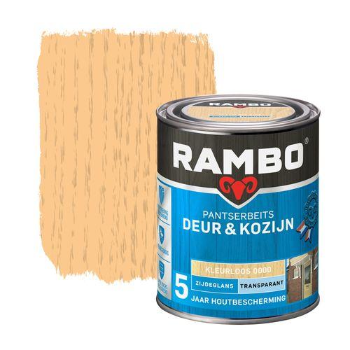 Rambo pantserbeits deur en kozijn dekkend zijdeglans 0000 kleurloos 0,75L