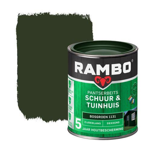 Rambo pantserbeits schuur en tuinhuis zijdeglans dekkend bosgroen 750ml