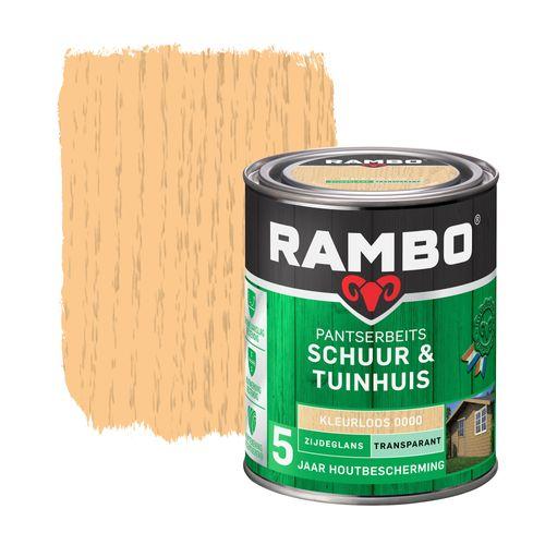 Rambo pantserbeits schuur en tuinhuis zijdeglans transparant kleurloos 750ml