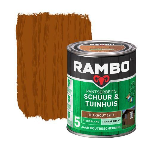 Rambo pantserbeits schuur en tuinhuis zijdeglans transparant teakhout 750ml
