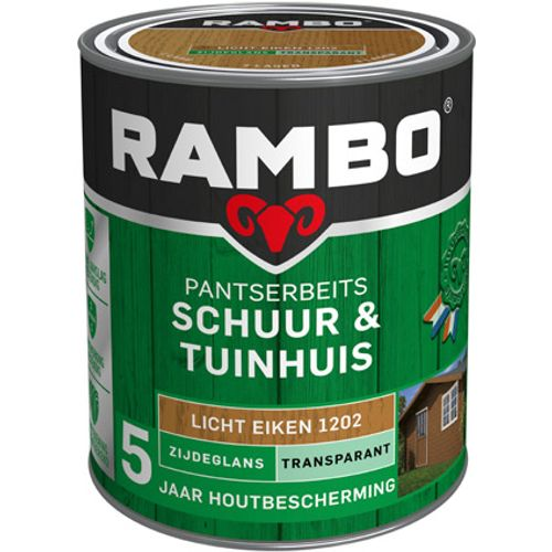 Rambo pantserbeits schuur en tuinhuis zijdeglans transparantlichteiken 750ml
