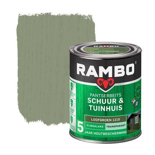 Rambo pantserbeits schuur en tuinhuis zijdeglans transparantloofgroen 750ml
