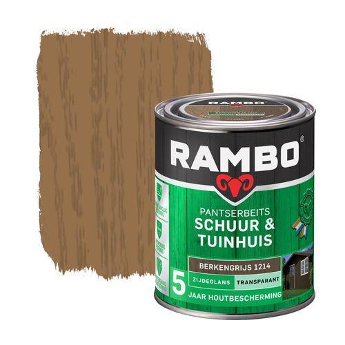 Rambo pantserbeits schuur en tuinhuis zijdeglans transparant berkengrijs 750ml