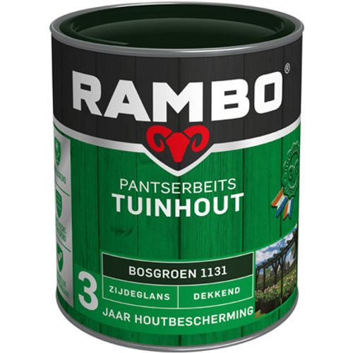 Rambo pantserbeits tuinhout zijdeglans dekkend bosgroen 750ml