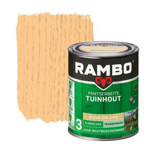 Rambo pantserbeits tuinhout zijdeglans transparant kleurloos 750ml