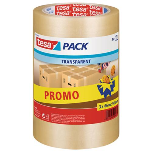 Tesa verpakkingstape transparant 3 stuks