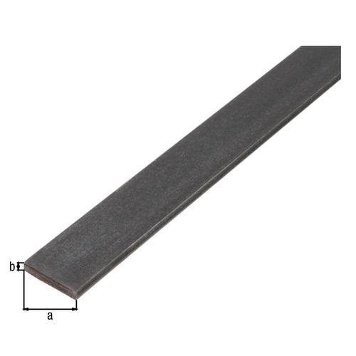 Profilé plat GAH Alberts acier laminé à chaud 1 m x 1 cm
