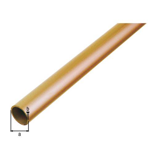 GAH Alberts ronde buis messing koper 1 m x 0,2 cm