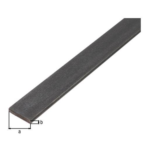GAH Alberts plat profiel staal zwart 2 m x 2 cm