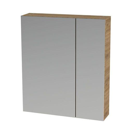 Tiger spiegelkast S-line 60cm met 2 enkelzijdige spiegeldeuren chalet eik