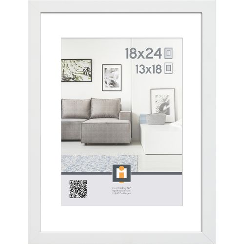 Intertrading fotolijst 'Goteborg' hout wit 18 x 24 cm