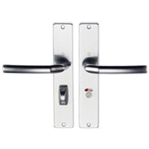 Hoppe deurklink aluminium f1 schilden Vrij Bezet 63/8 1117/202sp2