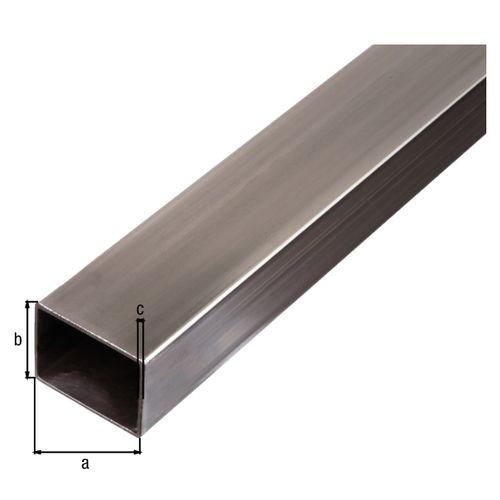 Tube rectangulaire GAH Alberts acier gris 2 m x 4 cm