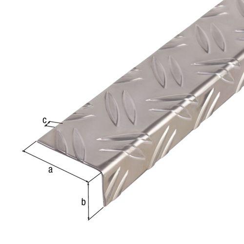 GAH Alberts hoekprofiel aluminium 65,6x35,5x1,5mm 1m
