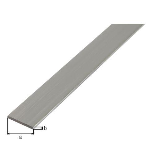 Profilé plat GAH Alberts aluminium gris 2 m x 5 cm