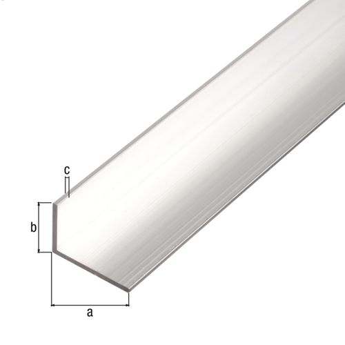 GAH Alberts hoekprofiel aluminium wit 40x20x2mm 1m