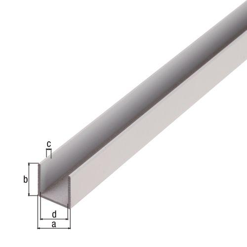 Profilé U GAH Alberts aluminium gris 1 m x 0,8 cm