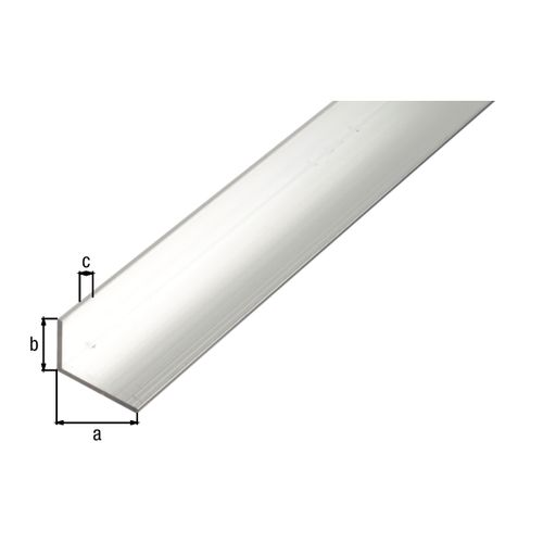 Profil d'angle GAH Alberts aluminium nature 30x15x2mm 1m