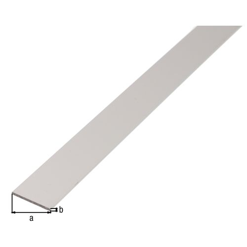 Profilé plat GAH Alberts aluminium blanc 1 m x 2 cm