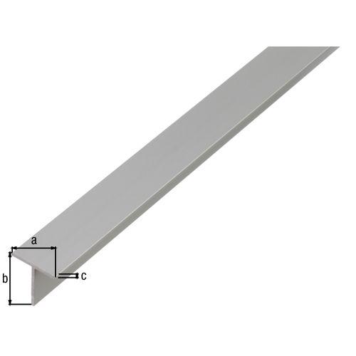 GAH Alberts T-profiel aluminium zilver 20x20x1,5 1m