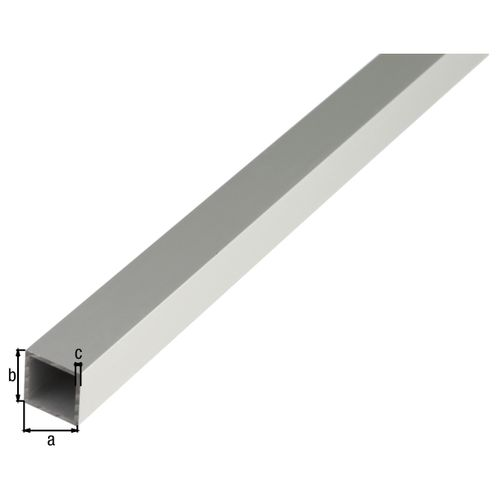 GAH Alberts vierkante buis aluminium zilverkleurig geëloxeerd 10x10x1mm 1m