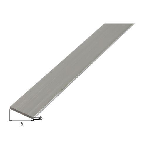 Profilé plat GAH Alberts aluminium gris 2 m x 1,5 cm