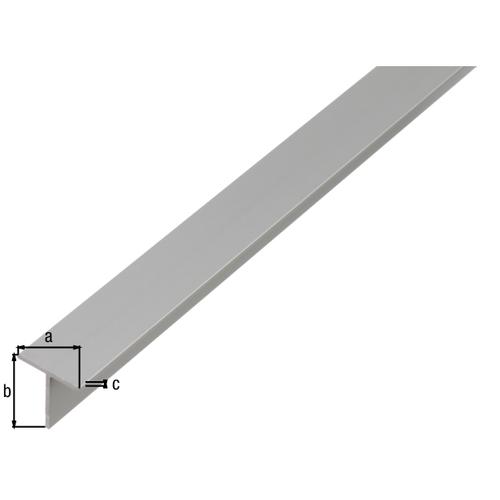 GAH Alberts T-profiel aluminium grijs 2 m x 2 cm