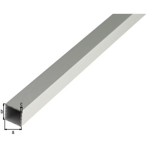 GAH Alberts vierkante buis aluminium zilverkleurig geëloxeerd 20x20x1,5mm2m