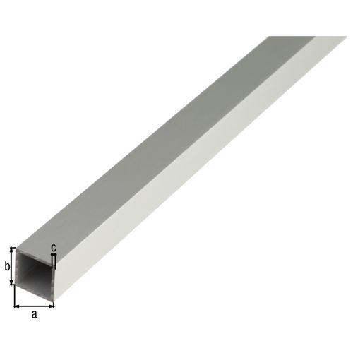 GAH Alberts vierkante buis aluminium zilverkleurig geëloxeerd 25x25x1,5mm 2m