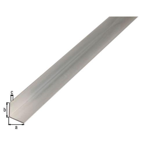 Profilé L GAH Alberts aluminium gris 2 m x 1,5 cm