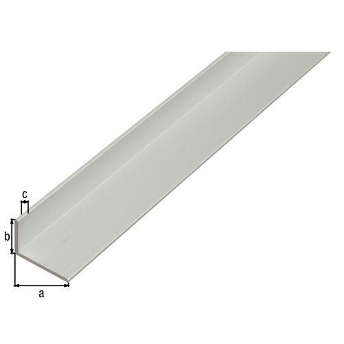 GAH Alberts hoekprofiel aluminium zilver 20x10x1,5mm 2m