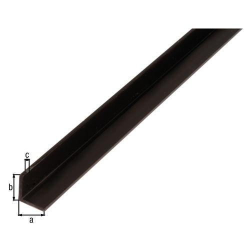 Profilé L GAH Alberts PVC noir 1 m x 2 cm