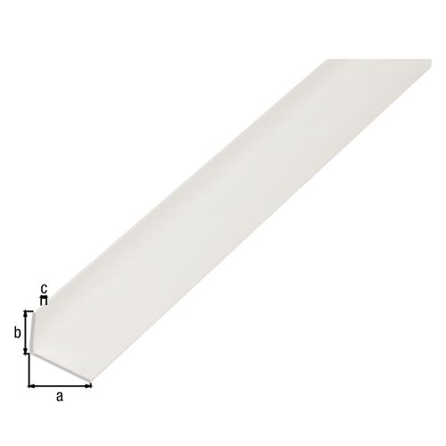 Profilé L GAH Alberts PVC blanc 1 m x 2cm