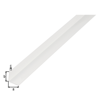Profilé L GAH Alberts PVC blanc 2 m x 1,5 cm