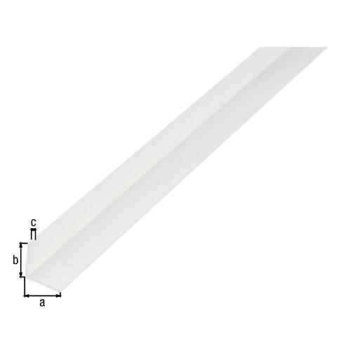 Profilé L GAH Alberts PVC blanc 2 m x 2 cm